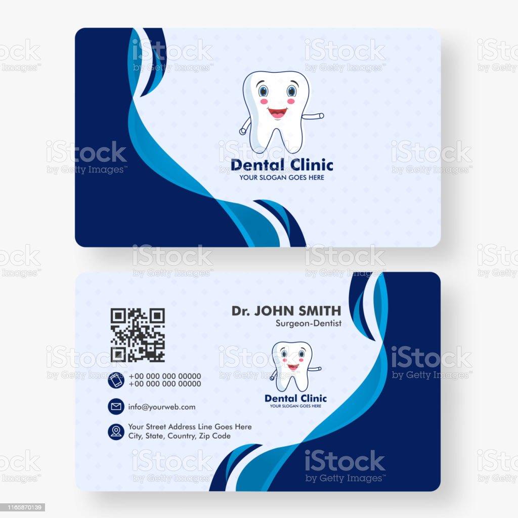 Dental Clinic Visitenkarte Oder Horizontale Vorlage Design