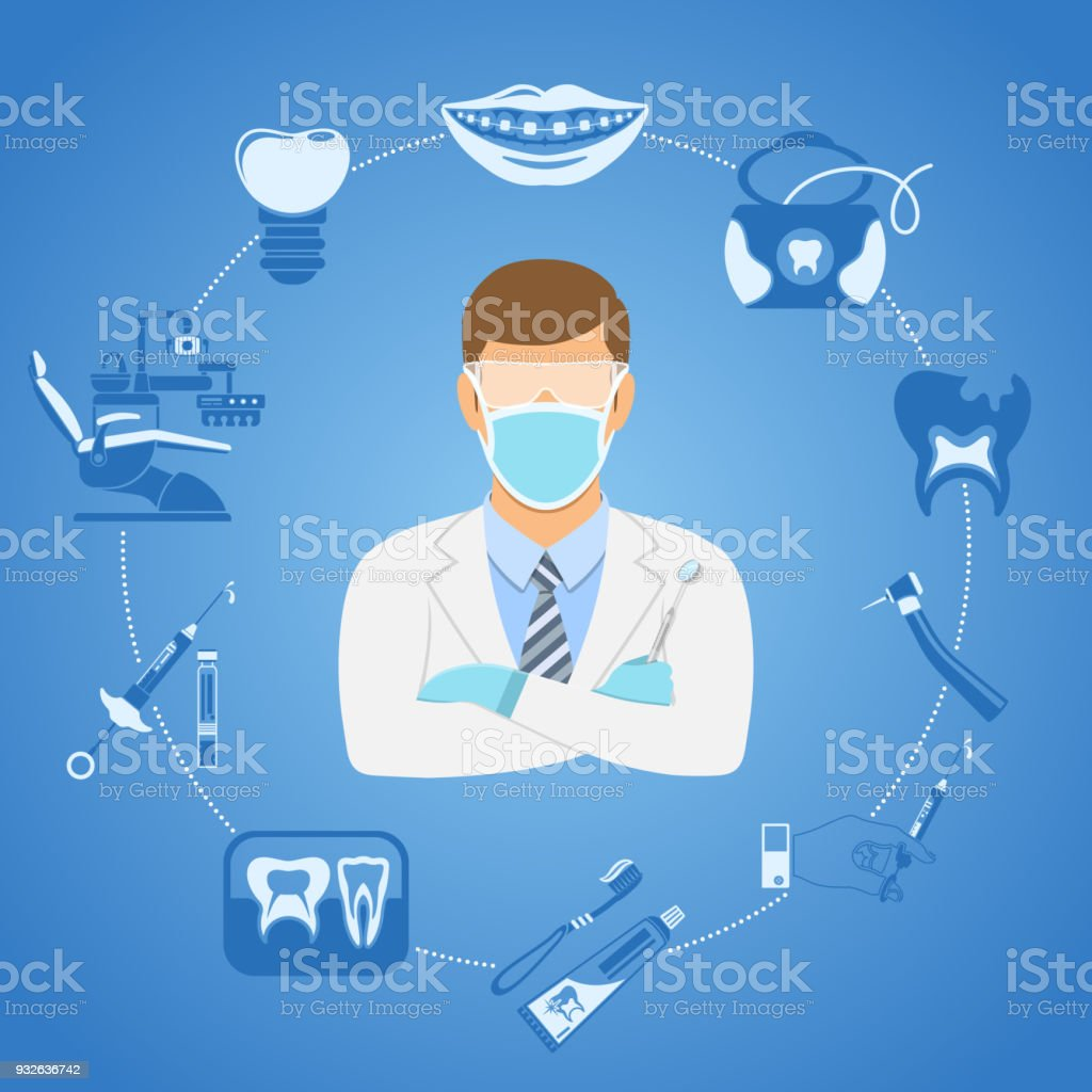 Dental Clinic Concept vector art illustration