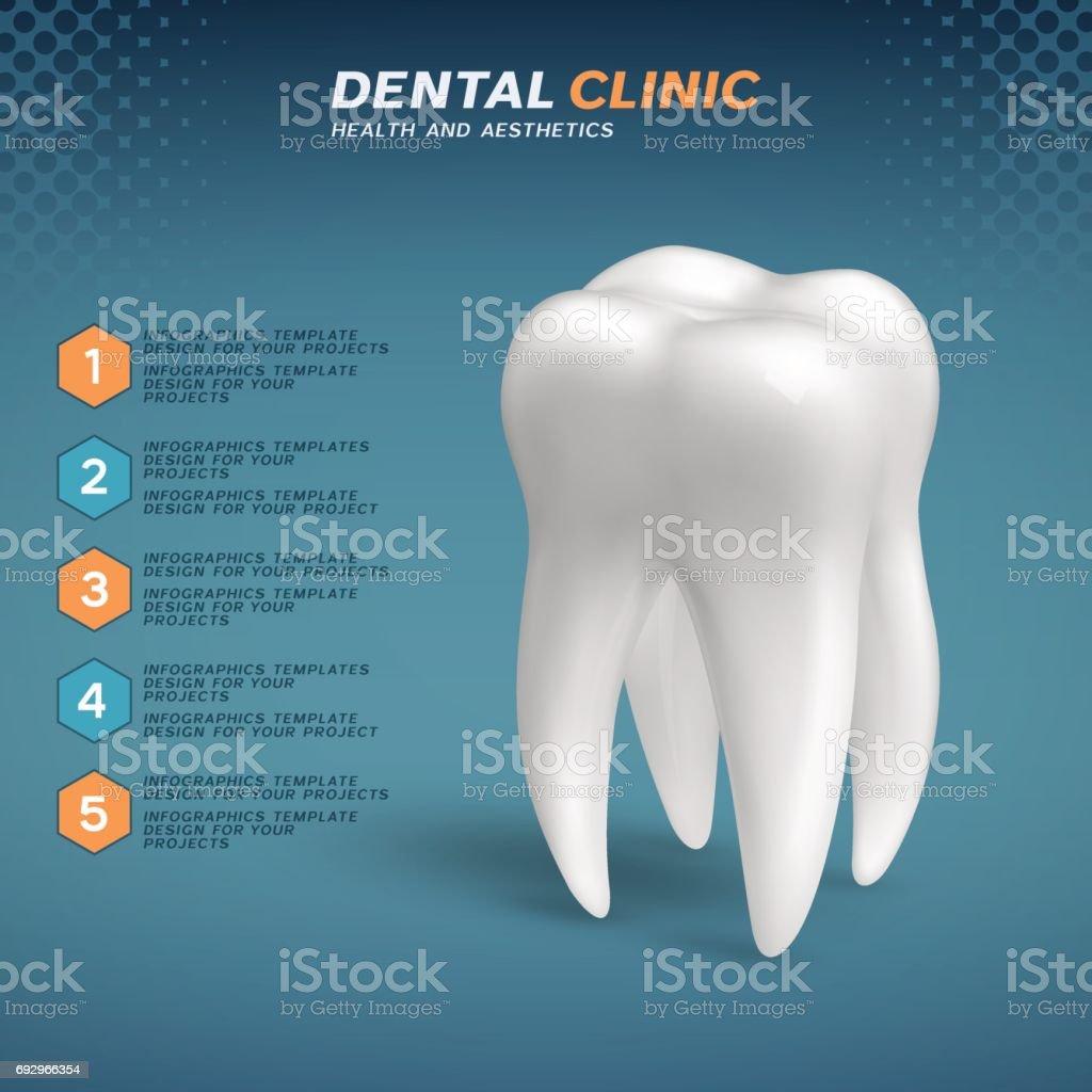 Ilustración de Clínica Dental Infografía Con El Icono Del Diente ...