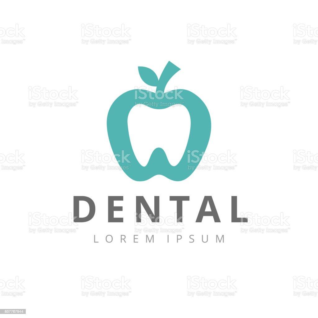歯科医院ロゴ歯抽象デザイン ベクトル テンプレート直線的なスタイルです。 ベクターアートイラスト