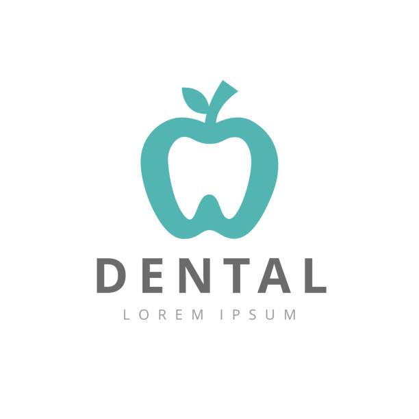 歯科医院ロゴ歯抽象デザイン ベクトル テンプレート直線的なスタイルです。 - 歯医者のロゴ点のイラスト素材/クリップアート素材/マンガ素材/アイコン素材