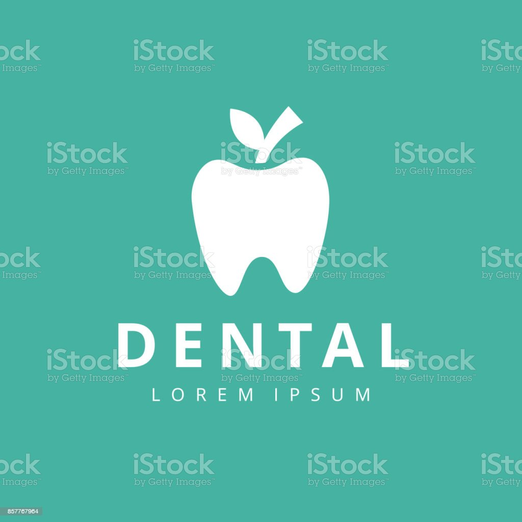 Dental Clinic Logo Tooth abstract design vector template Linear style. vector art illustration