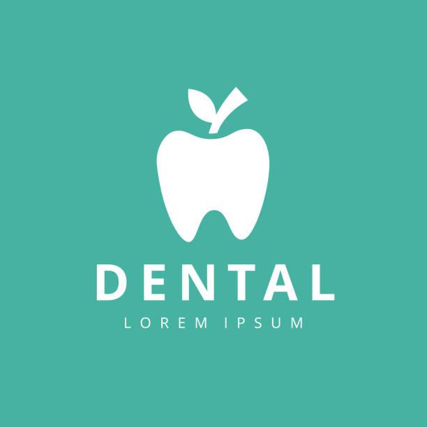 ilustraciones, imágenes clip art, dibujos animados e iconos de stock de plantilla de vector de diseño abstracto de logotipo de clínica dental dental estilo lineal. - logos de dentista