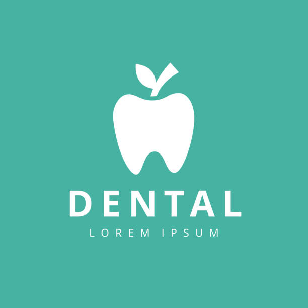 dental klinik logo zahn abstrakt vektor entwurfsvorlage linearen stil. - zahnarzt logos stock-grafiken, -clipart, -cartoons und -symbole