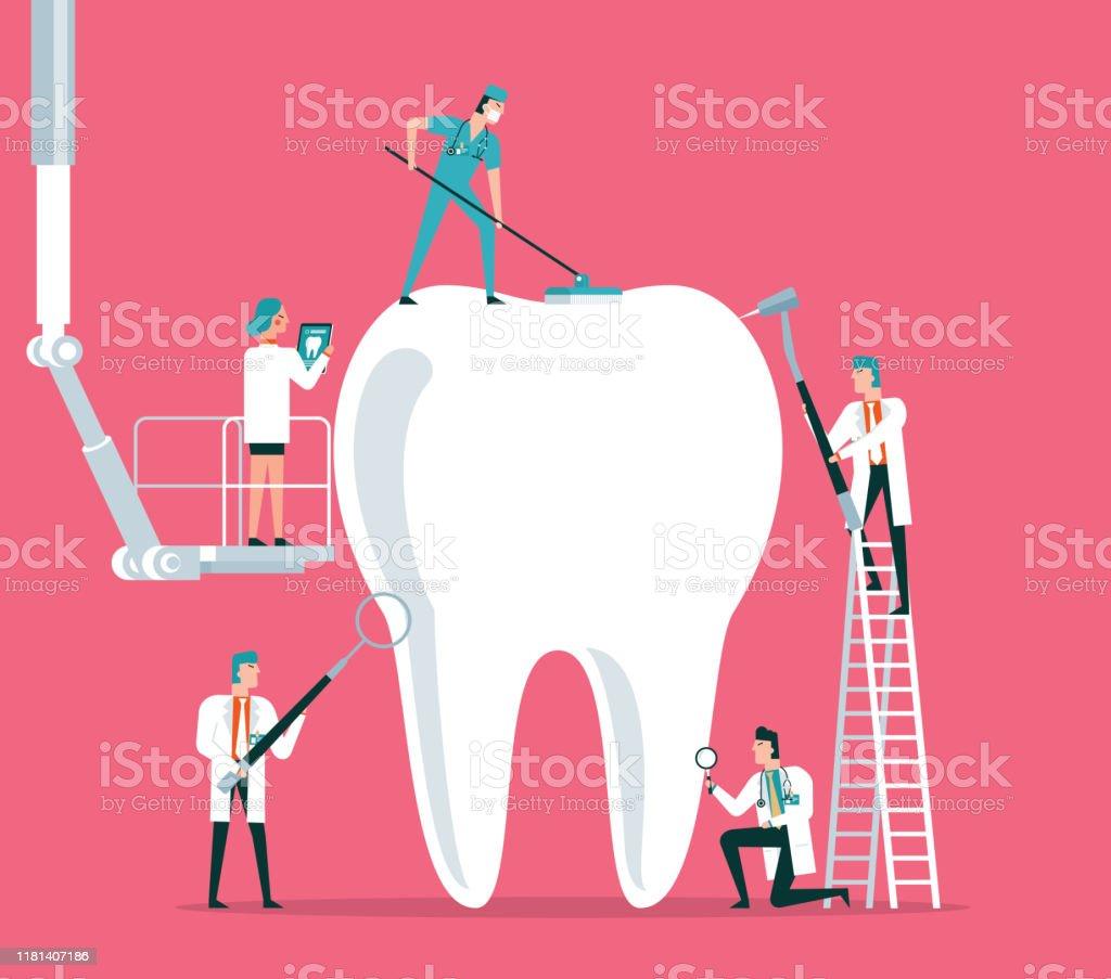 Dental Clinic - Royaltyfri Anställning vektorgrafik