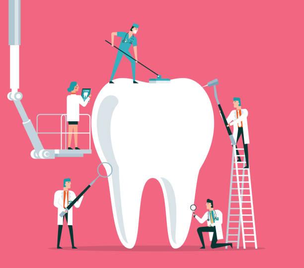 bildbanksillustrationer, clip art samt tecknat material och ikoner med dental clinic - tandläkare