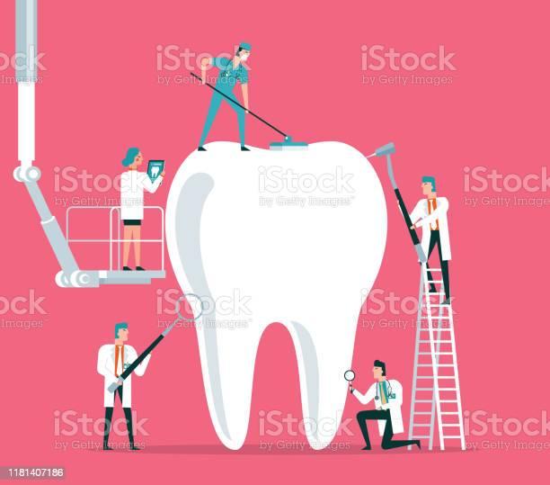 Dental Clinic-vektorgrafik och fler bilder på Anställning