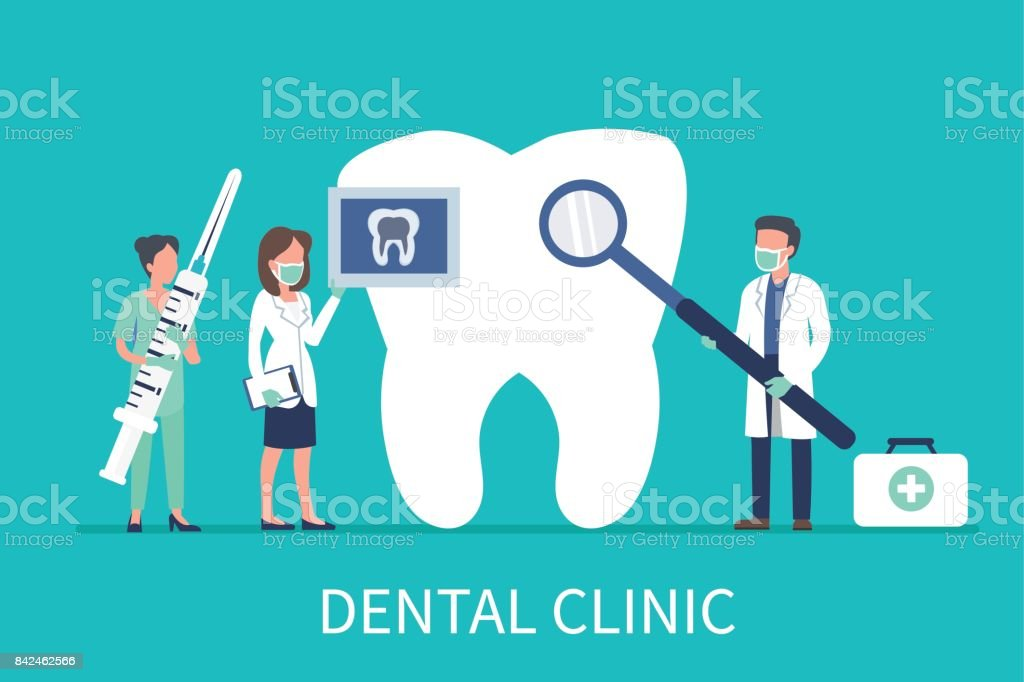 dental clinic vector art illustration