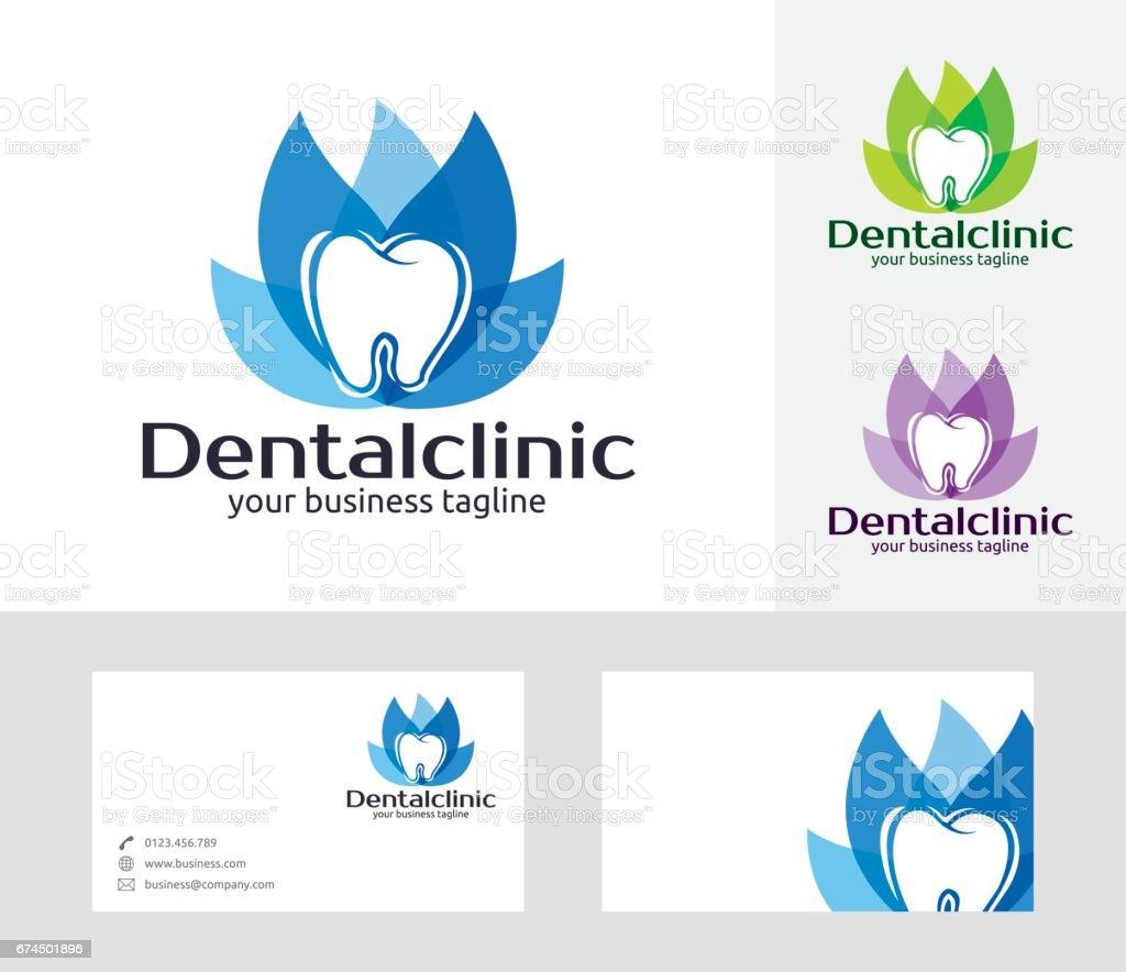 Vector símbolo de la clínica dental - ilustración de arte vectorial
