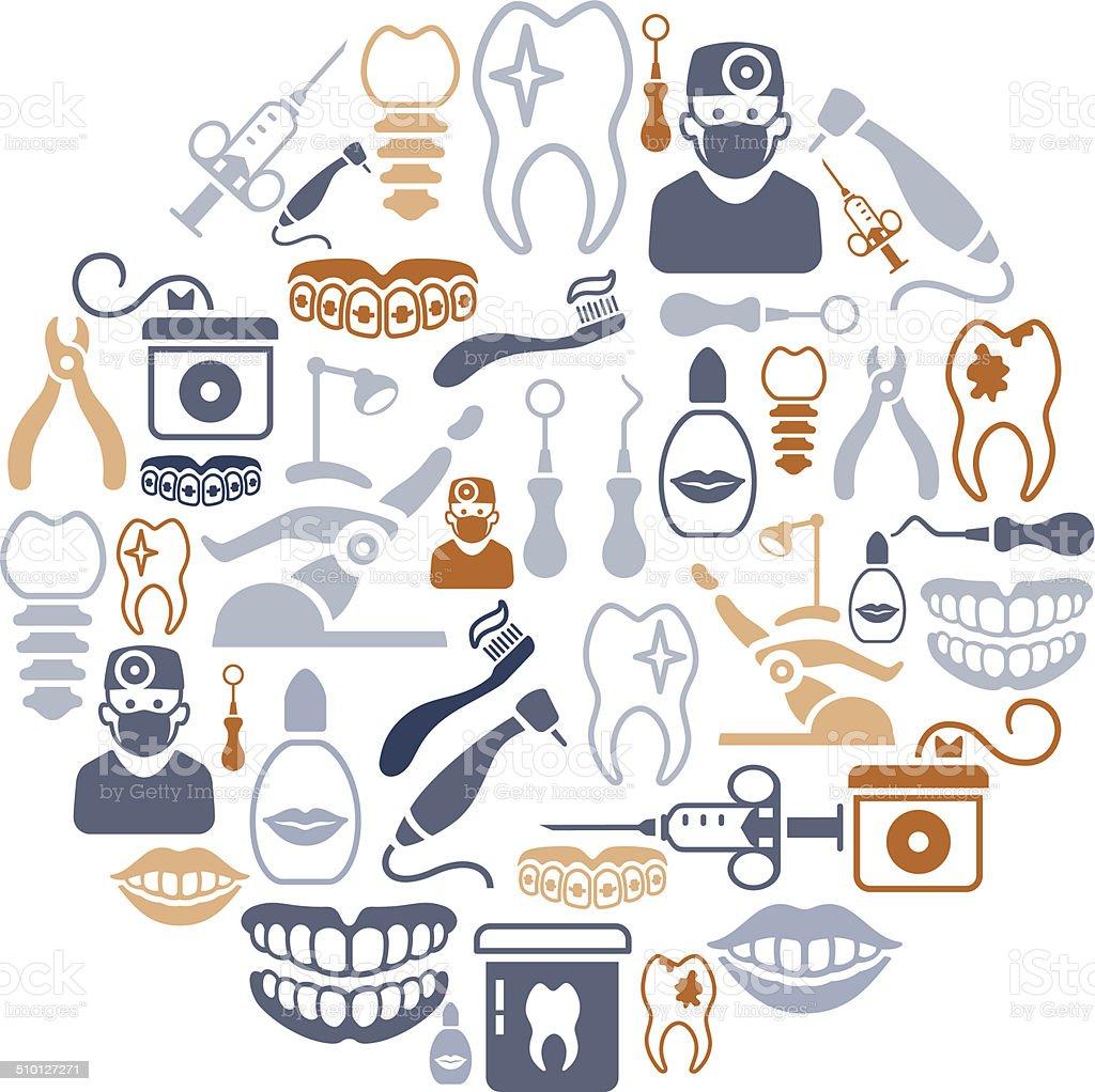 Dental Collage vector art illustration