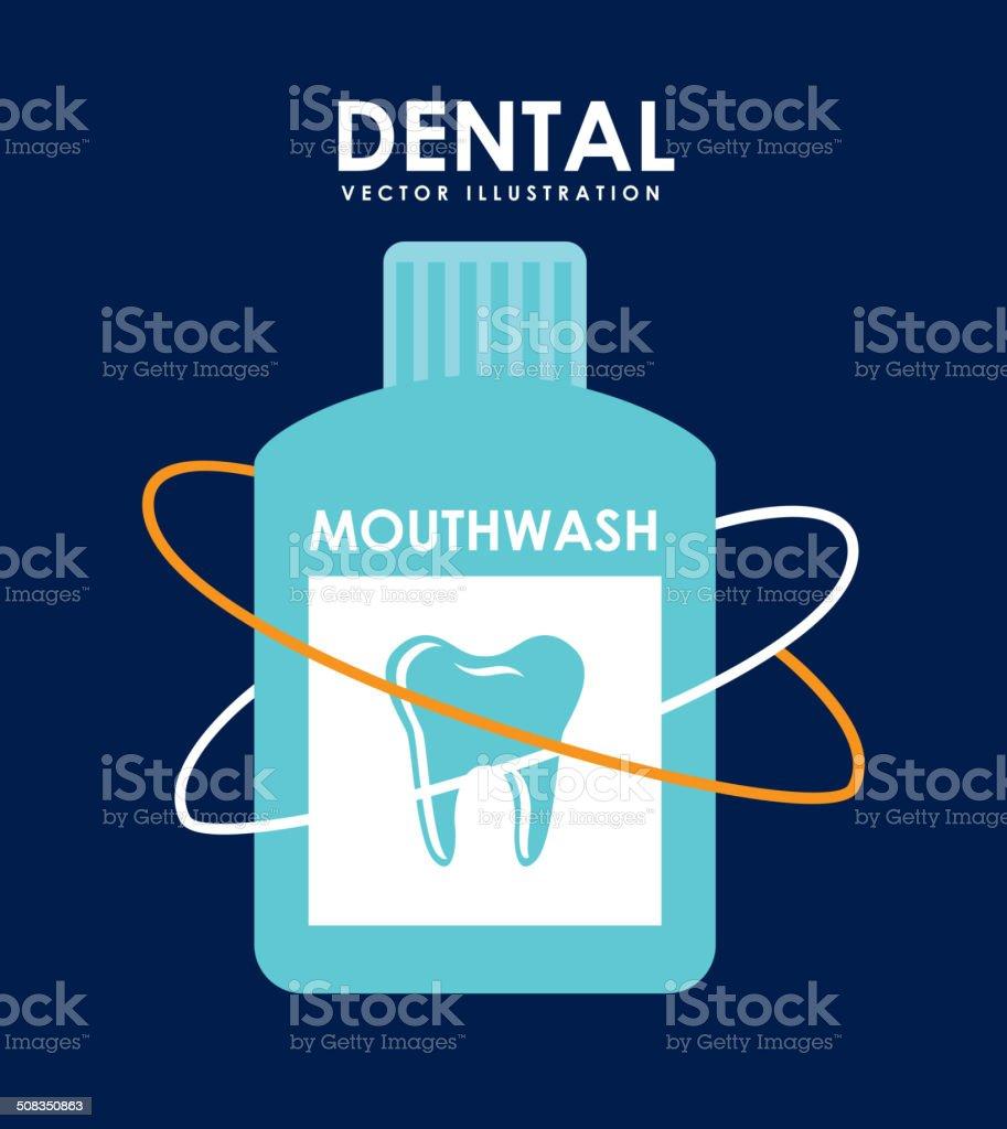 dental design vector art illustration