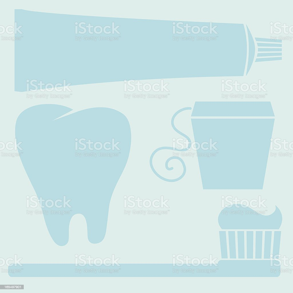 Dental Elements - Toothpaste, Toothbrush, Floss, Tooth royalty-free dental elements toothpaste toothbrush floss tooth stock vector art & more images of concepts