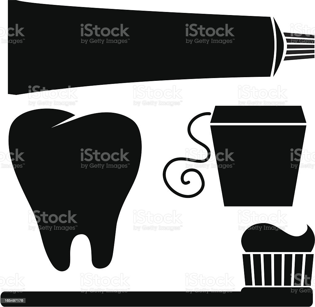 Dental Elements vector art illustration