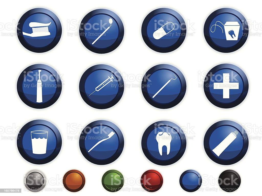 Dental equipments vector art illustration