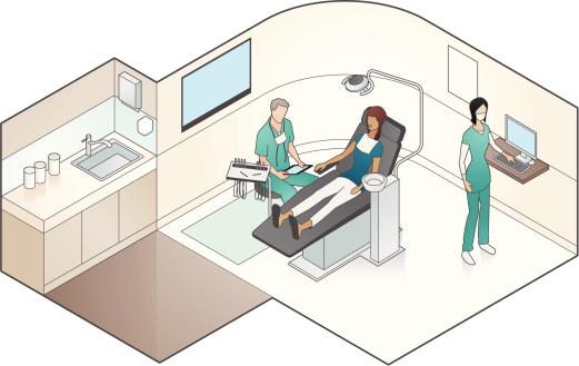 Dental Examination Illustration