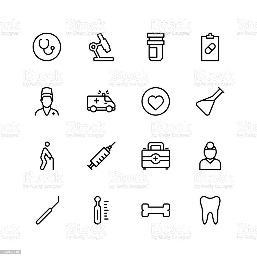 Dental flat icon vector art illustration