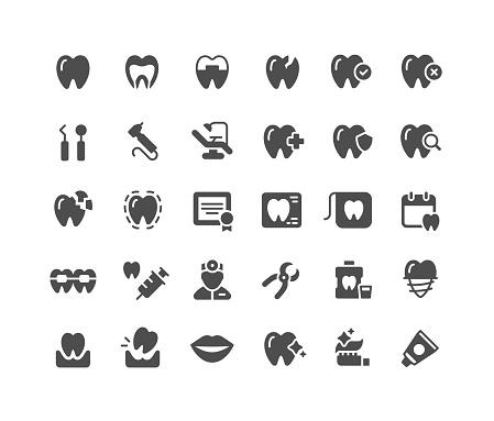 Dental Flat Icons