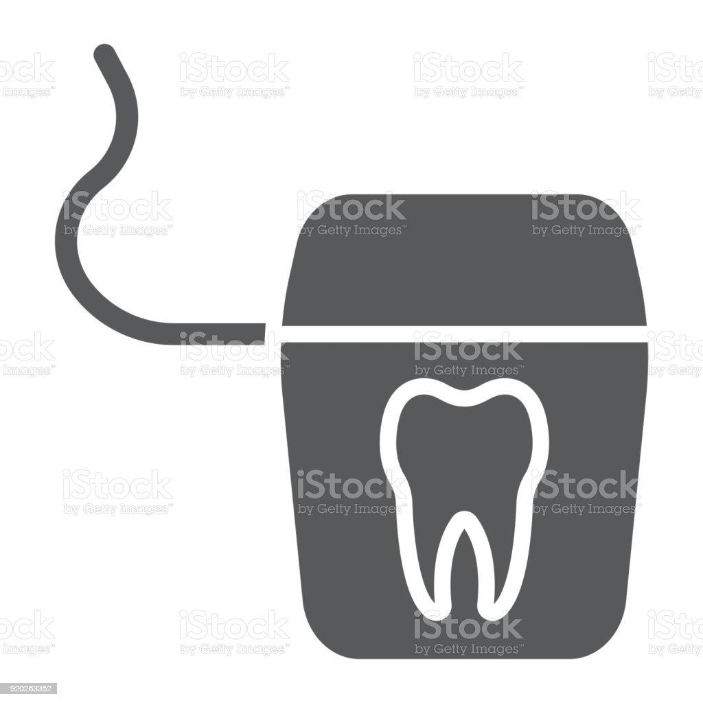 Zahnseide Glyphe Symbol Zahnmedizin Und Zahnärztliche Saubere ...