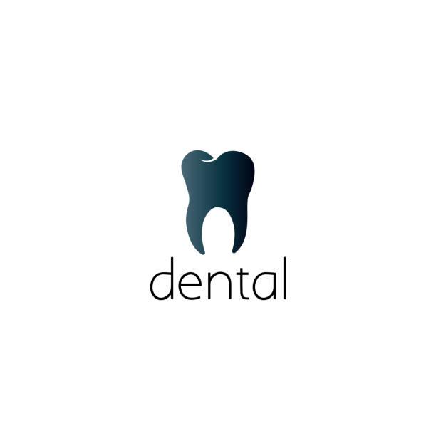 dental-grafik-design-konzept - zahnarzt logos stock-grafiken, -clipart, -cartoons und -symbole