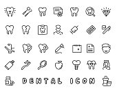 dental hand drawn icon design illustration, line style icon, designed for app and web