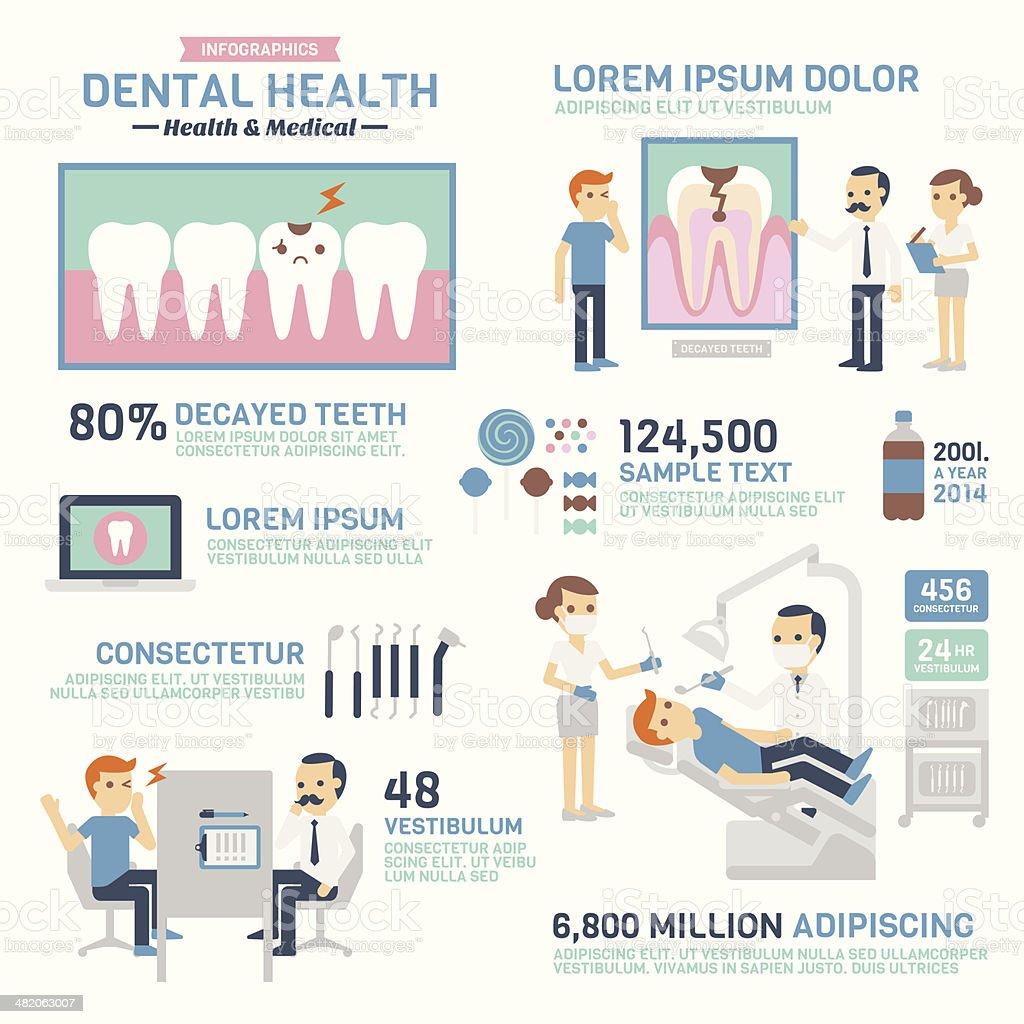 Dental Health vector art illustration