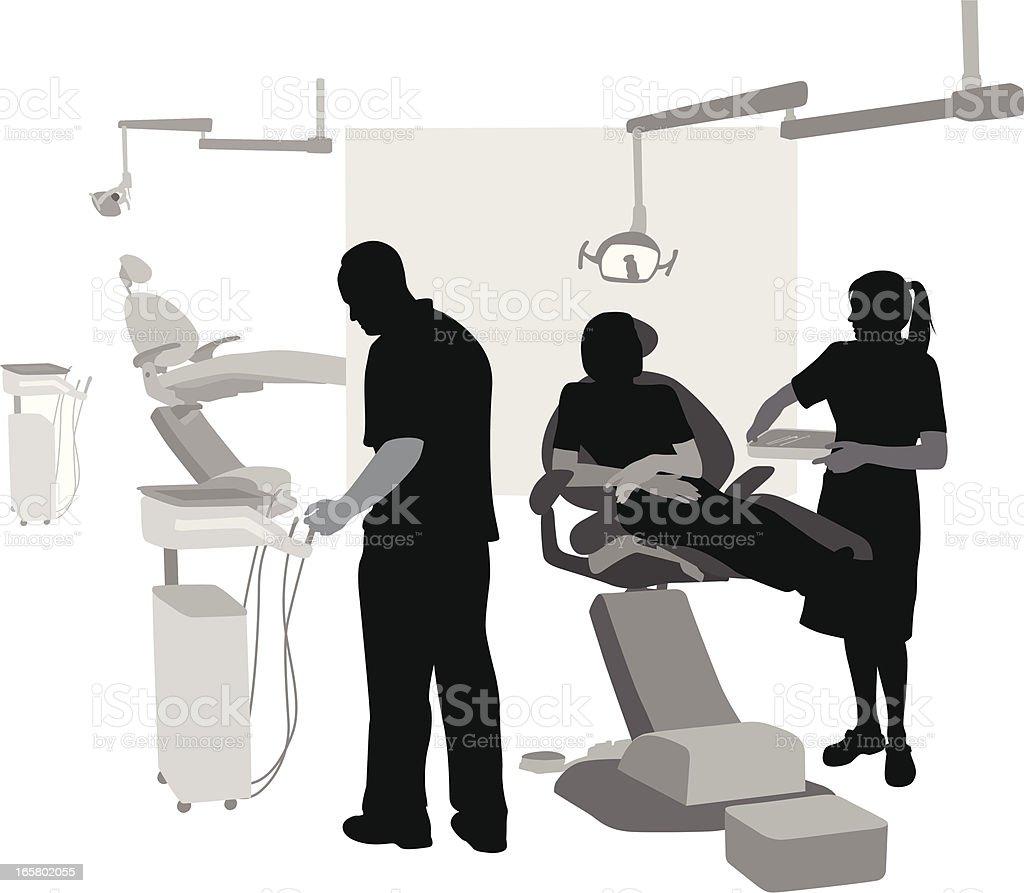 Dental Help Vector Silhouette vector art illustration