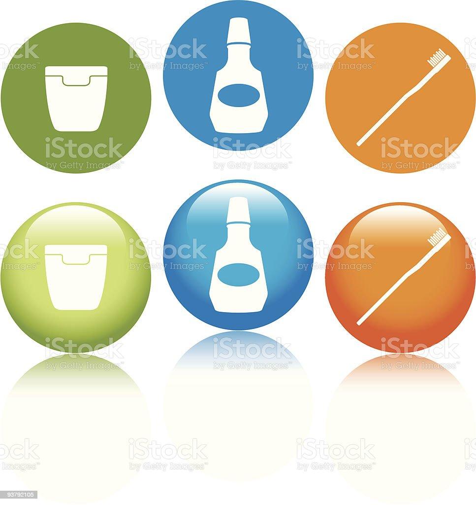 Dental Hygiene Icons vector art illustration