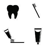 Dental icon set.