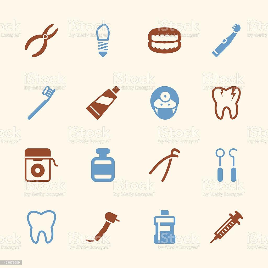 Dental Icons - Color Series   EPS10 vector art illustration