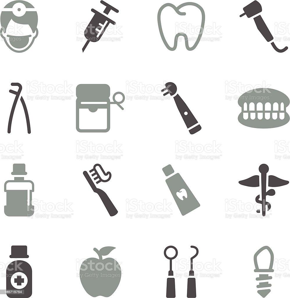 Dental Icons - Color Series vector art illustration