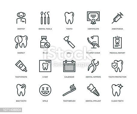 Dental Icons - Line Series