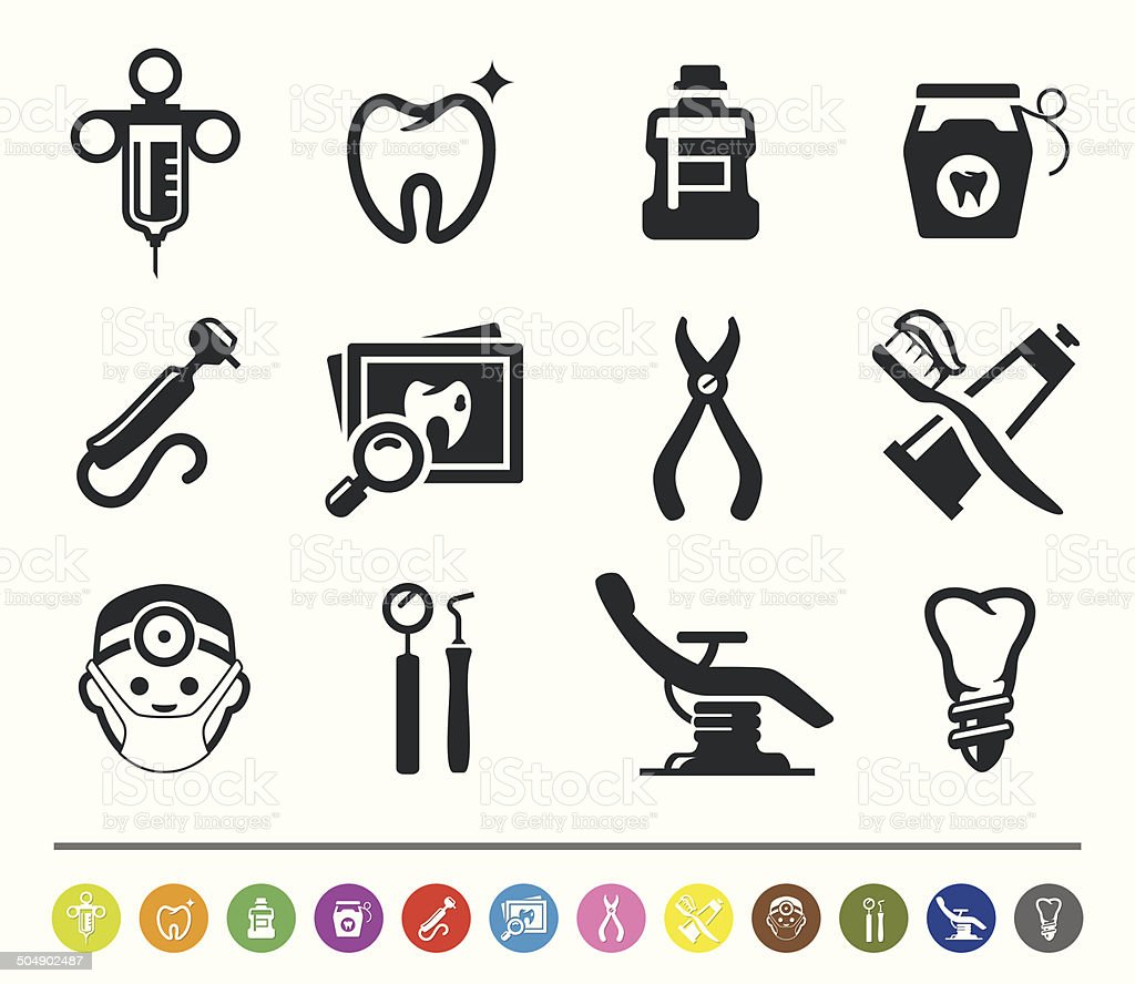 Dental icons | siprocon collection vector art illustration