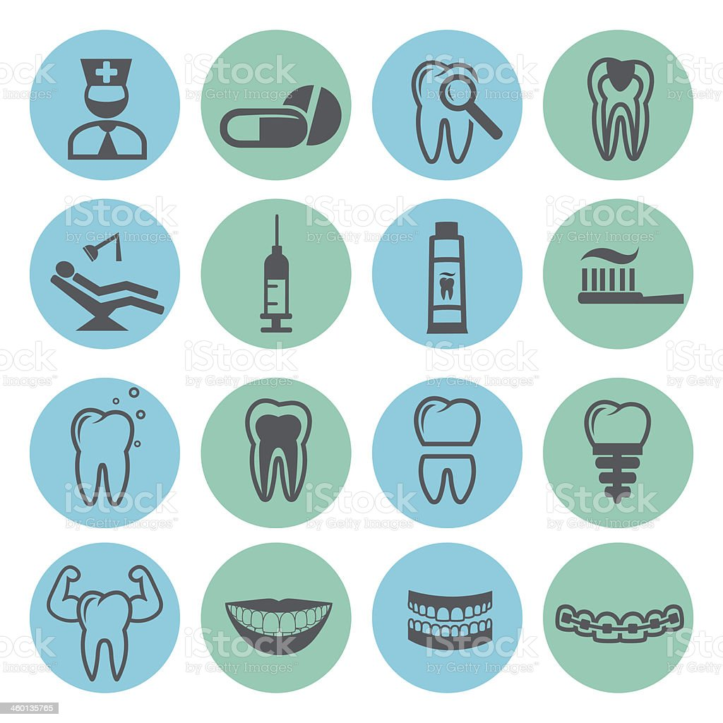 Dental icons royalty-free dental icons stock vector art & more images of arranging
