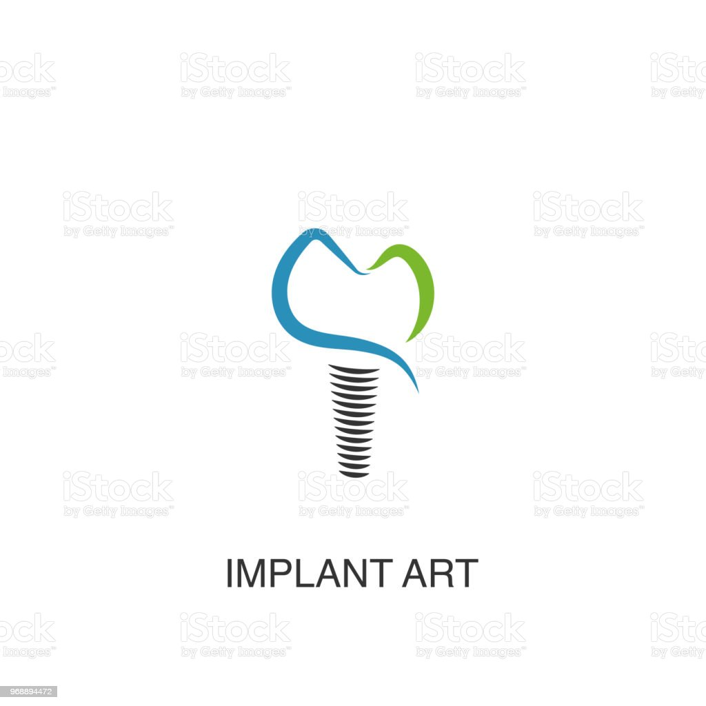 Dental implant logo vector design element for dental clinic Dental implant logo vector design element for dental clinic Abstract stock vector