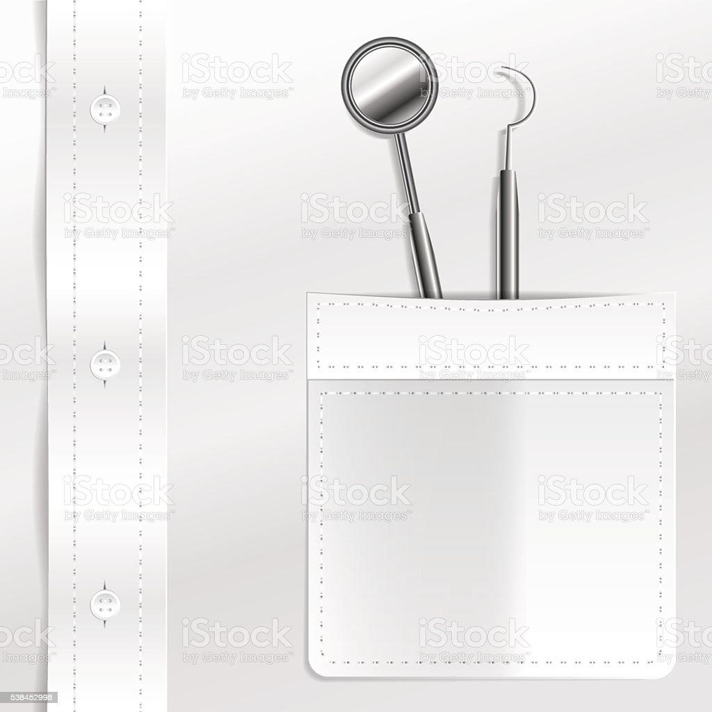 Dental instruments vector art illustration