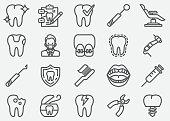 istock Dental Line Icons 1039417606