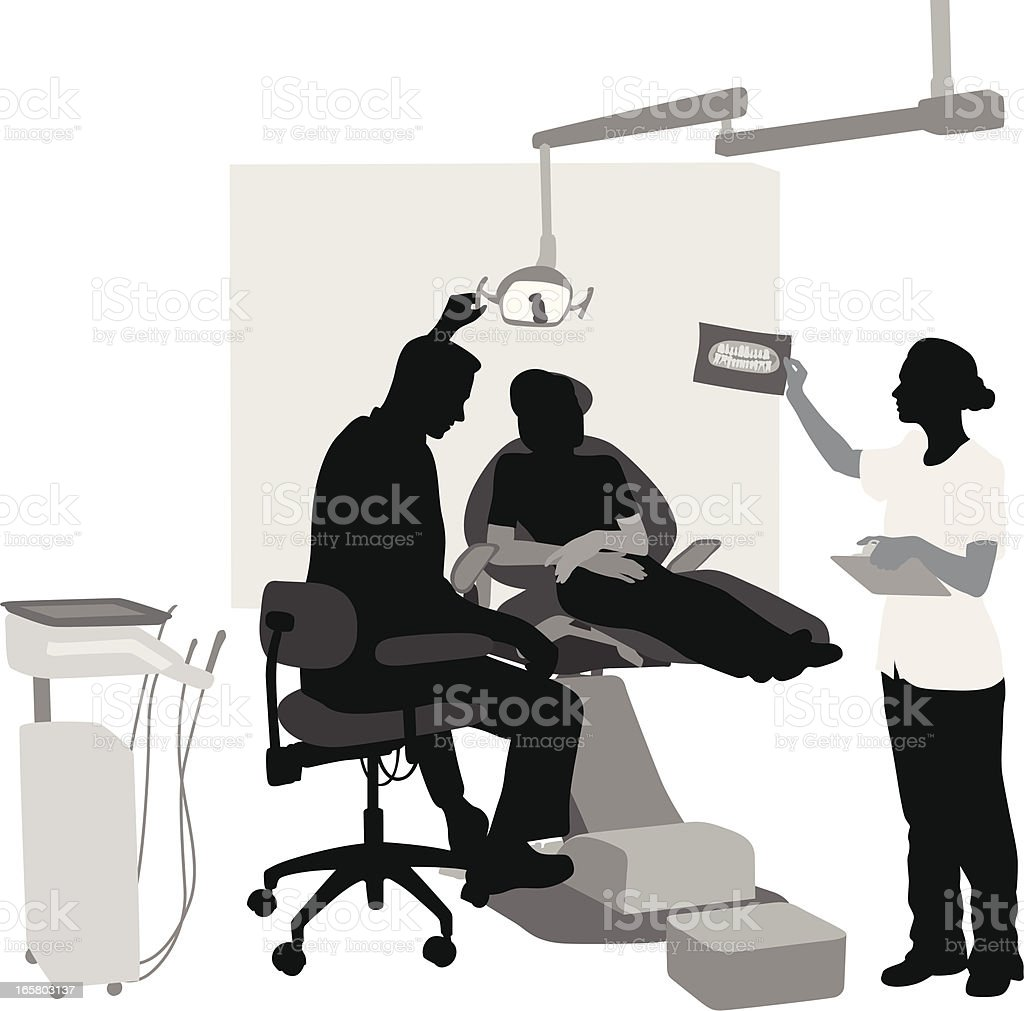 Dental Office Vector Silhouette royalty-free stock vector art
