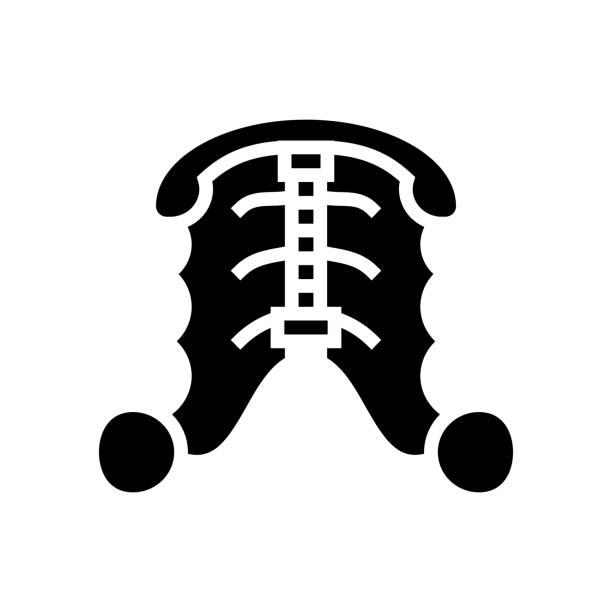 dental plate glyph icon vector illustration dental plate glyph icon vector. dental plate sign. isolated contour symbol black illustration streptococcus mutans stock illustrations