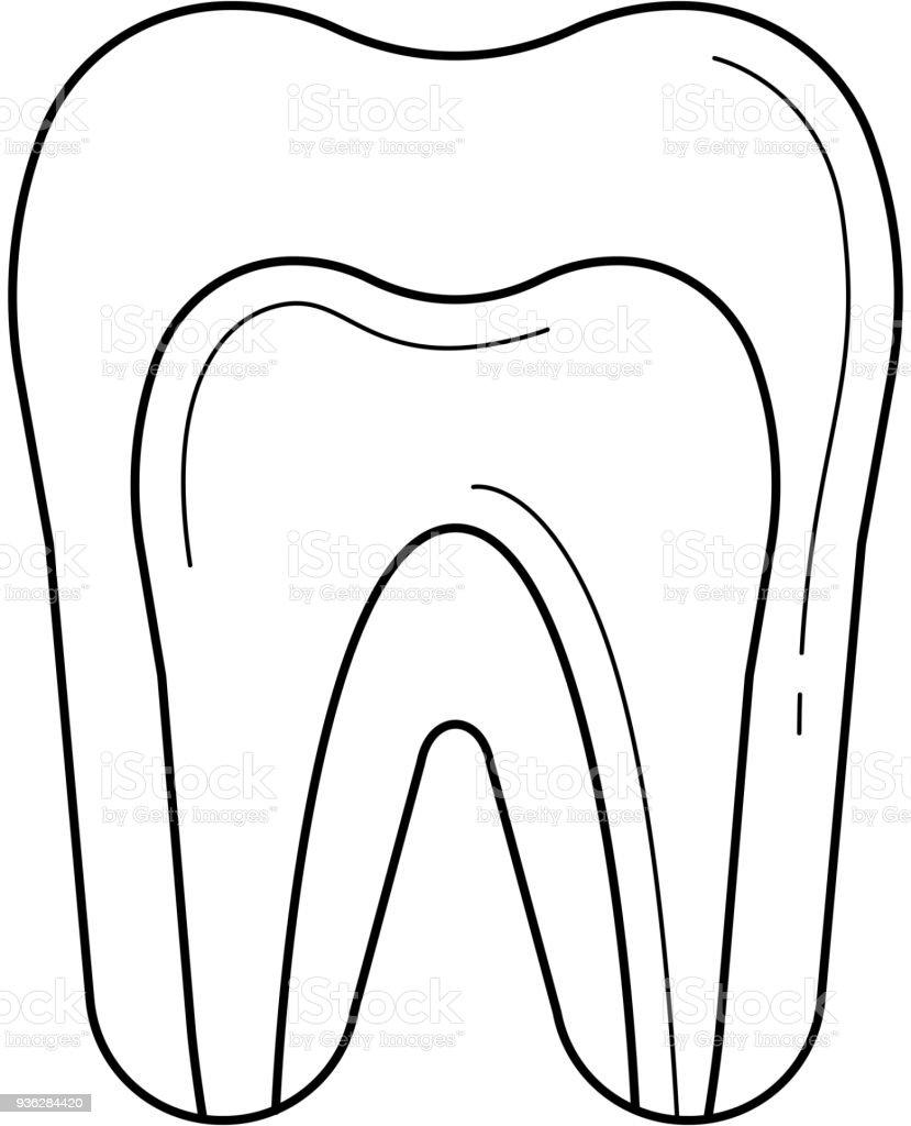 Zahnpulpa Liniensymbol Stock Vektor Art und mehr Bilder von Abstrakt ...