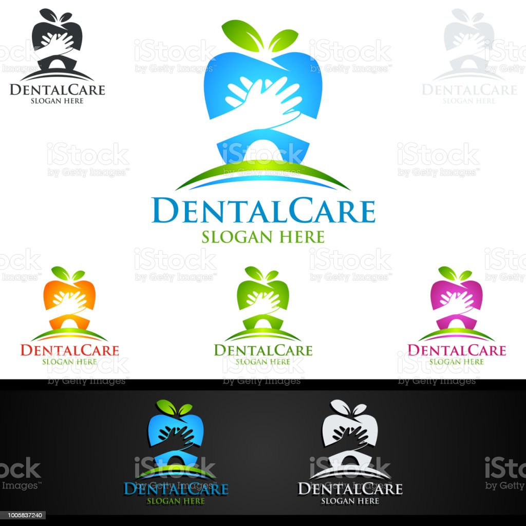 Dental Symbol, Dentist stomatology Symbol Design vector art illustration