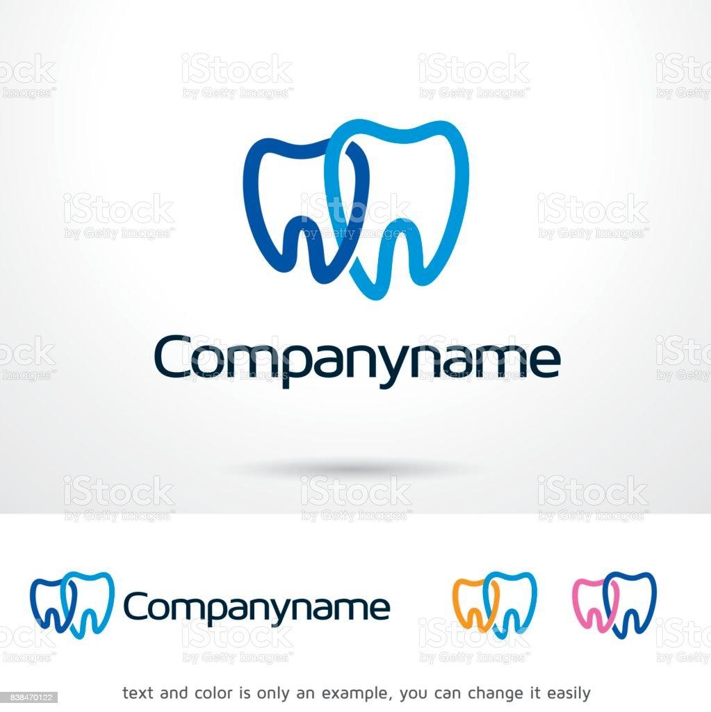 Símbolo dental plantilla diseño Vector, emblema, concepto, símbolo creativo, icono de diseño - ilustración de arte vectorial