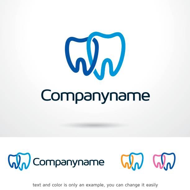 dental symbol template design vektor, emblem, designkonzept, kreativen symbol, symbol - zahnarzt logos stock-grafiken, -clipart, -cartoons und -symbole