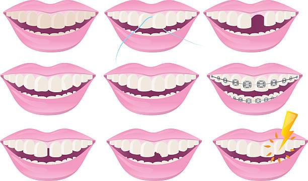 Dental Teeth vector art illustration
