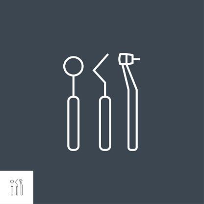 Dental Tool Line Icon