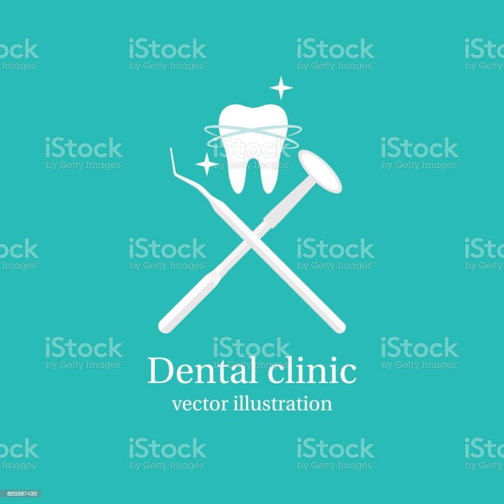 Icono de herramientas dentales. - ilustración de arte vectorial