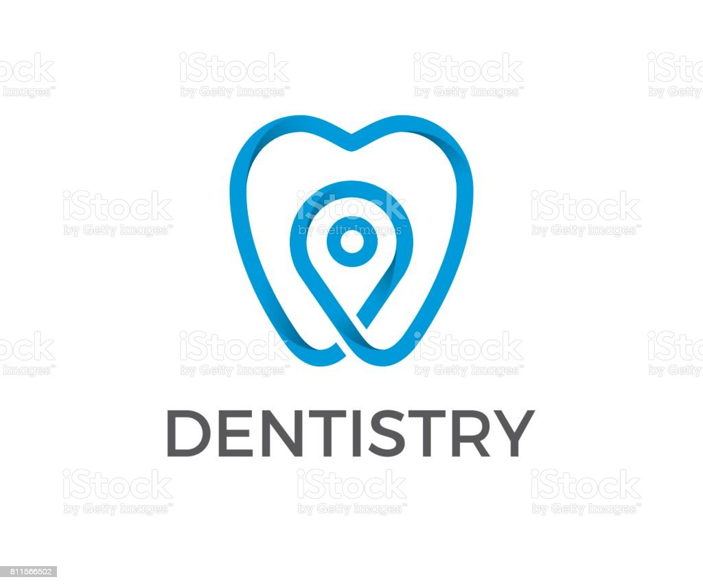 Dental vector icon vector art illustration