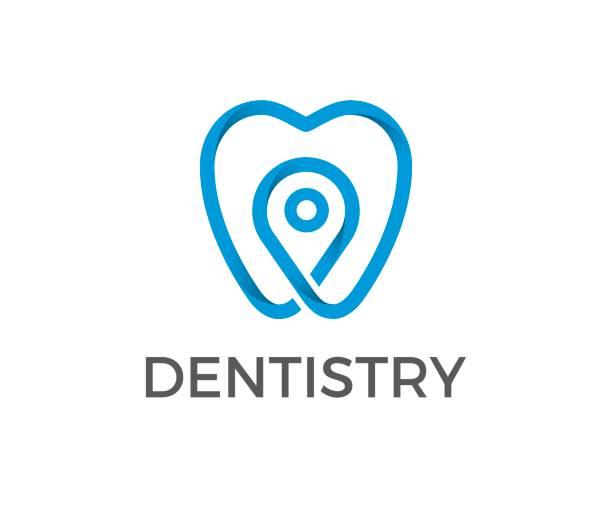 dental vektor icon - zahnarzt logos stock-grafiken, -clipart, -cartoons und -symbole