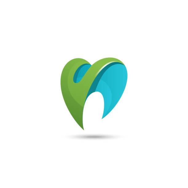 dental vector logo - dentist logos stock illustrations