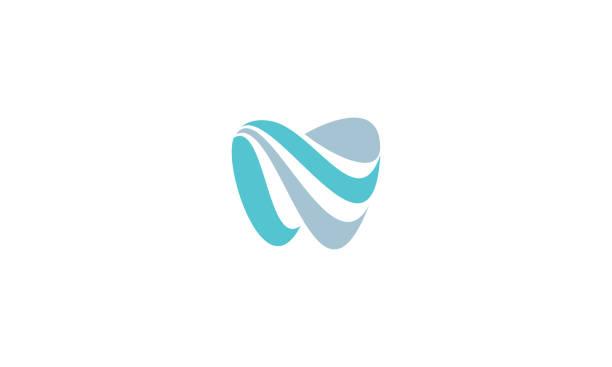 dental wave logo vector icon - dentist logos stock illustrations
