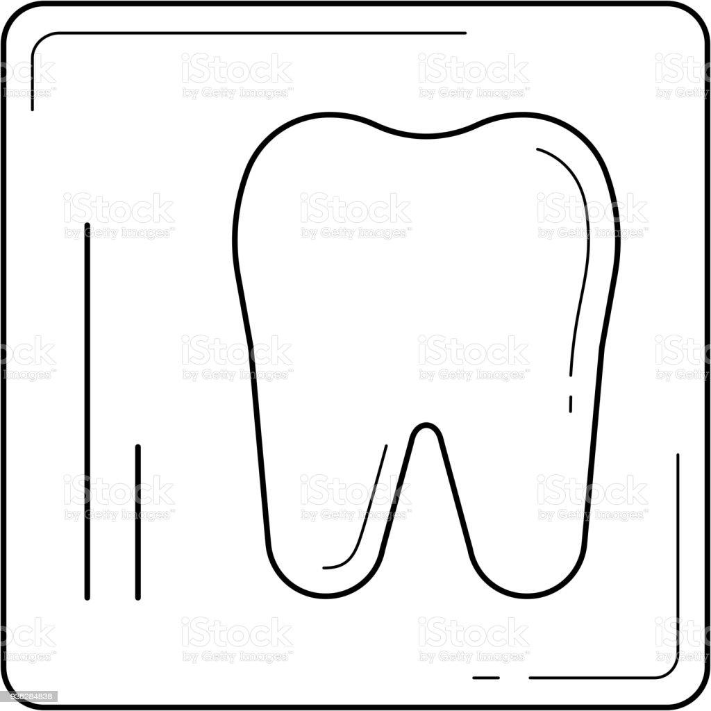 Ilustración de Icono De Línea De Rayos X Dental y más banco de ...